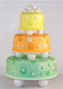 Ultimate Fake Wedding Cake (Polka Dots)