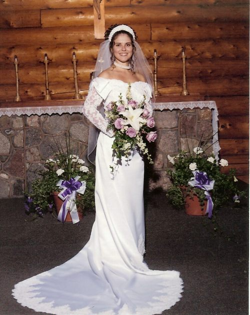 Amy Cattell's Daughter's White Wedding Gown
