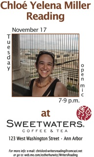 poster for sweetwaters reading nov 09